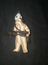 Star Wars ROTJ Logray Ewok Medicine Man w Staff Shoulder Bag Helmet Kenner USED