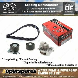 Gates Water Pump & Timing Belt Kit for Ford Focus LW DYK DYL Kuga TF DM2 Mondeo
