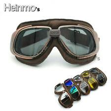 Retro MOTORRADBRILLE Cabrio Brille Fliegerbrille Helmet goggles glasses Lunettes