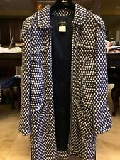 Chanel Tweed Jacket Coat Dress Fringed Trimmed Zippered Size 44 Mint Condition