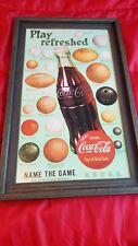Vintage inspired coca cola cardboard sign