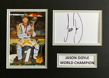 More details for jason doyle hand signed a4 photo mount display speedway autograph world champion