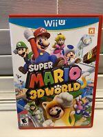 Super Mario 3D World CIB Complete (Nintendo Wii U, 2013)