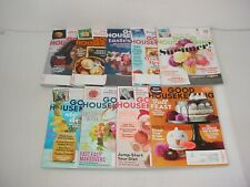 Lot of 9 Good Housekeeping Magazines 2017 to 2018