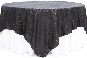 """10 Sequins Overlays 54"""" X 54"""" Square Tablecloth 4 Colors Table Wedding Catering"""