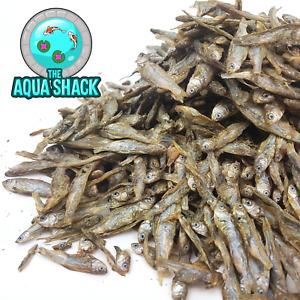 Natural Dried Whole Fish Whitebait Sprats Food Arowana Oscar Flowerhorn Cichlid