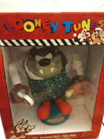 Looney Tunes Animated TAZ Christmas Motion Figure Arms Move Up & Down Chef Cook