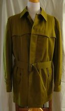 Military Green Coat Fleece Lined Sears The Weather Beater Size 42 Reg Vintage