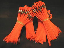 "Lot of Stake Chaser/Line Mark Flags Marking Whiskers 6"" 100 Count Orange New"