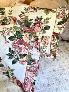 Romantic Pink Roses Floral Ruffled King Pillowcases