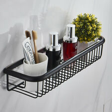 Black Oil Rubbed Brass Wall Mounted Bathroom Shower Storage Caddy Shelf Basket