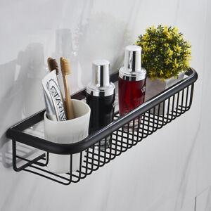 Black Oil Rubbed Brass Wall Mounted Bathroom Shower Storage Caddy Shelf Basket