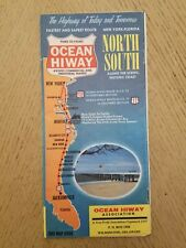 VTG 1964 Ocean Hiway New York Florida North South Map Info Brochure Hwy 13 17