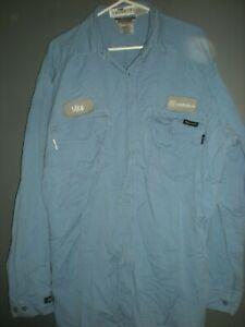 Workrite Flame Resistant FR Light Blue Work Shirts Work rite Flame Retardant #2