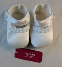 """My Twinn Collection White Satin Booties Shoes NWT 3.75"""" Long 1.75"""" Wide 23"""" Doll"""