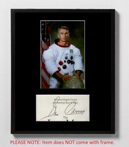 Gene Cernan Matted Autograph & Photo! Apollo 17 Moonwalker! NASA Astronaut!