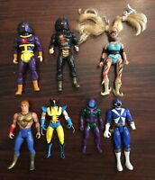 Vintage 80s-90s Mixed Lot Of 7 Action Figures She-Ra Marvel Power Rangers Norris