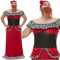 Bearded Lady Costume - Mens Fancy Dress Outfit The Greatest Showman Circus