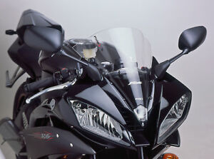 YAMAHA YZF R6 600 2006 > 2007 PUIG DOUBLE BUBBLE SCREEN CLEAR RACING WINDSCREEN