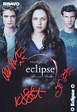 Twilight ECLIPSE-AUTOGRAFO carta-Taylor Lautner autograph autografo skinning