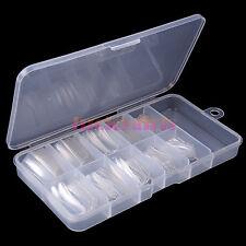 100Pcs Clear False Fake French Acrylic UV Gel Half Nail Art Tips Boxed Set Kits