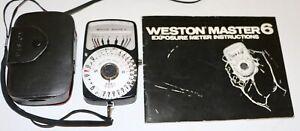 Weston Master 6 Light Meter Model 560 Made in Japan + Case & Instructions NICE