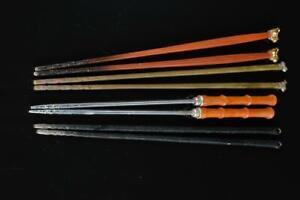 #7420: Japanese Metal TONGS chopsticks Hibashi, Tea Ceremony Bundle sale