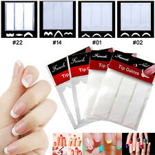 48 Stickers 3 Sheet DIY French Nail Art Tips Tape Guide Stencil Manicure Form