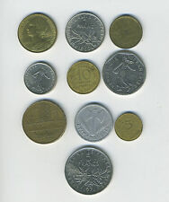 France - Lot of 10 different pre-Euro coins - Great Starter - Lot #FR17