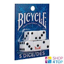 Bicycle 5 Dés Ensemble Jeux Playing Dés Accessoires Casino Blanc Dés Logo Neuf