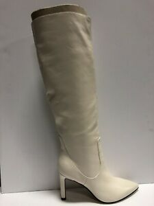 Nine West Women's Maxim, Knee-High Boots-Ivory, Size 7.5M.