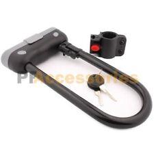 Heavy Duty Bike U Lock Bicycle Cycling Security Steel Lock & Bracket with 2 Keys