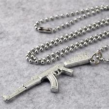 AK-47 Emmagee Men Necklace Charming Rifle Machine Gun Chain Men Pendant Gift