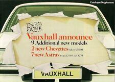 Vauxhall Chevette ES & Astra E L Saloons Late 1980 UK Market Sales Brochure