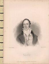 1834 DATATO Georgiano stampa ~ M G Lewis AUTORE DEL MONACO