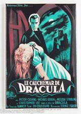 Horror of Dracula (France) FRIDGE MAGNET (2 x 3 inches) movie poster french
