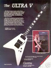 CARVIN ULTRA V GUITAR AD vtg 80's heavy metal method flying DOUG MARKS Hawk Band