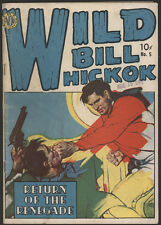 Wild BILL HICKOCK #5, 1950, Avon