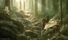 MTG Artists of Magic Playmat MIDNIGHT TIDES  AUTOGRAPHED By Artist TODD LOCKWOOD