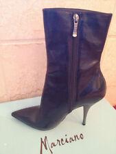 NIB Marciano Mid Calf Iridescent Black Multi Fabric Boots size 7 $350 R-Kizzie