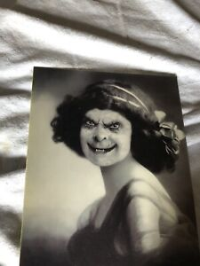Halloween Holographic Photo Portrait Young Lady Changing Picture Haunted house