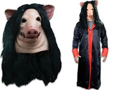 SAW Pig Latex Deluxe Mask + SAW Jig Saw Robe You Get Both + Free Shipping NEW