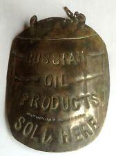 Prodotti petroliferi RUSSO Barile A Forma Di Rop venduto qui in ottone da appendere sign-molto vecchio!