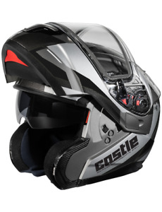 Castle Atom SV Transcend Black Modular Snowmobile Helmet Large-3XL