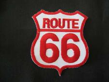 ROUTE 66 IRON ON/SEW ON EMBROIDERED CLOTH PATCH (P98)