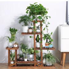 Wooden Plant Flower Stand Shelves Garden Planter 5-Tier Pot Display Rack Holder