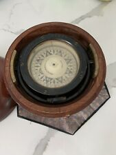 Vintage E.S. Ritchie & Sons Ship's Compass #75259 - Wood Case