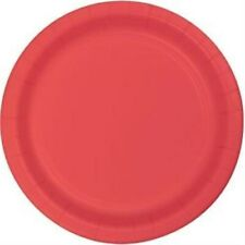"""Coral 10"""" Paper Plates 24 Per Pack Study Style Poly Coated"""