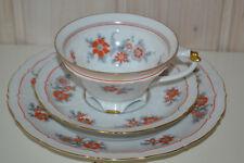 Sorau-Porzellan-Art Deco-Antik-Gedek/Tee/Kaffeegedeck/Sammeltasse-3Tlg-1Pers-Top