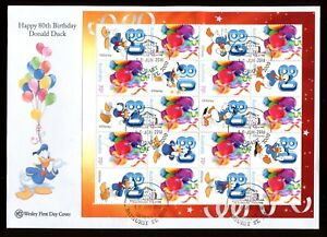 2014 Happy 80th Birthday Donald Duck Wesley FDC (B) Playhouse House Theatre PMK